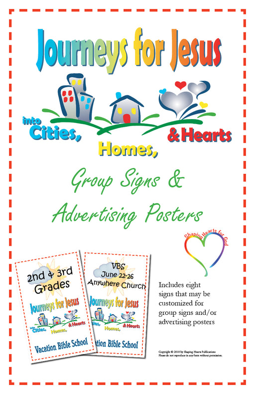 Journeys For Jesus Group Advertising Signs and Posters