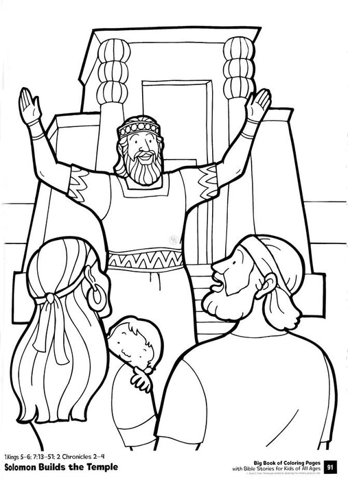 Big Book of Coloring Pages with Bible Stories for Kids of