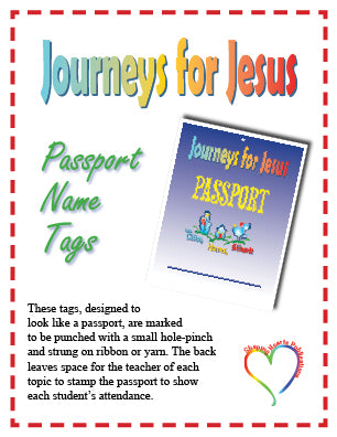 Journeys for Jesus Name Tags