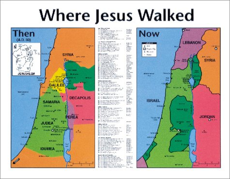 Where Jesus Walked Unlaminated