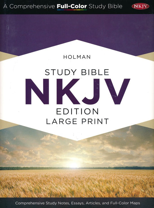 Holman NKJV Full-Color Large Print Study Bible, Saddle Brown LeatherTouch, Indexed