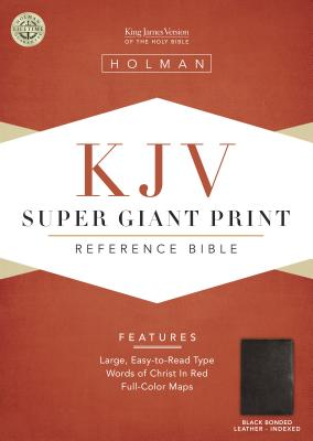 KJV Super Giant Print Reference Bible, Black, Indexed