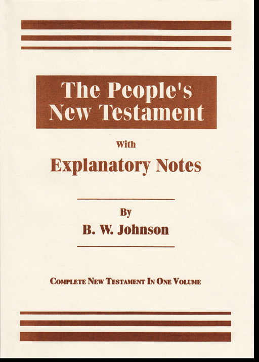 People's NT With Notes in One Volume