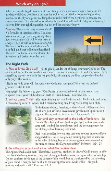 Knowing God's Will Pamphlet