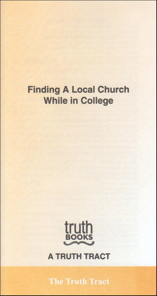 Finding a Local Church While in College