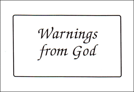 Warnings From God