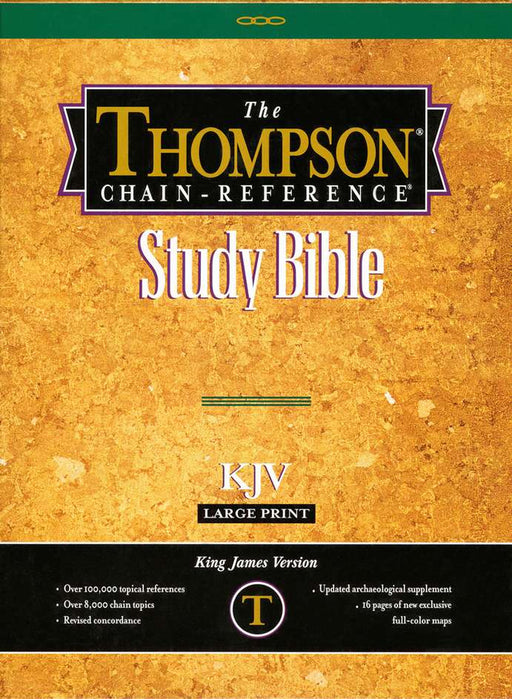 KJV Thompson Chain Reference Bible Large Print Burgundy Genuine Leather, Indexed