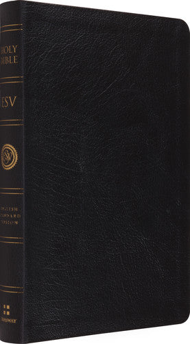 ESV Large Print Thinline Reference Bible Black Genuine