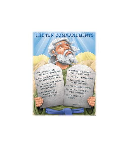 Ten Commandments Wall Chart