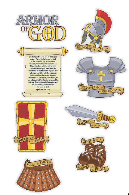 Armor of God Cutouts