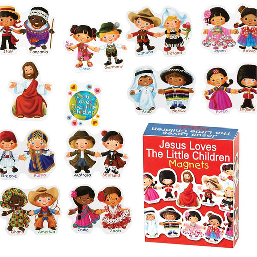 Jesus Loves the Little Children Bible Story Magnets
