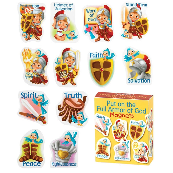 Put on the Full Armor of God Bible Story Magnets
