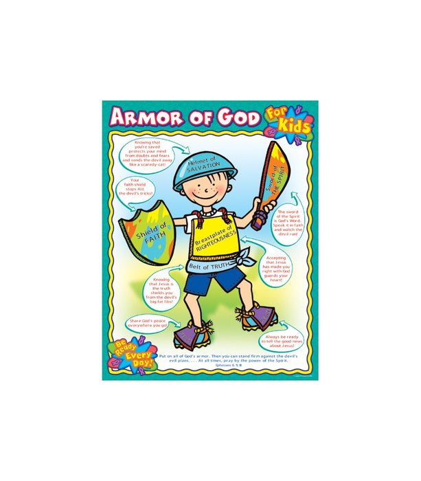 Armor of God Wall Chart for Kids
