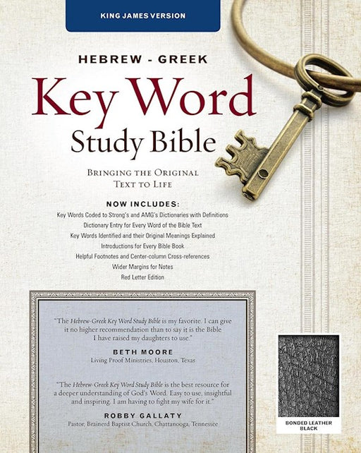 Hebrew-Greek KJV Key Word Study Bible - Black Bonded Leather
