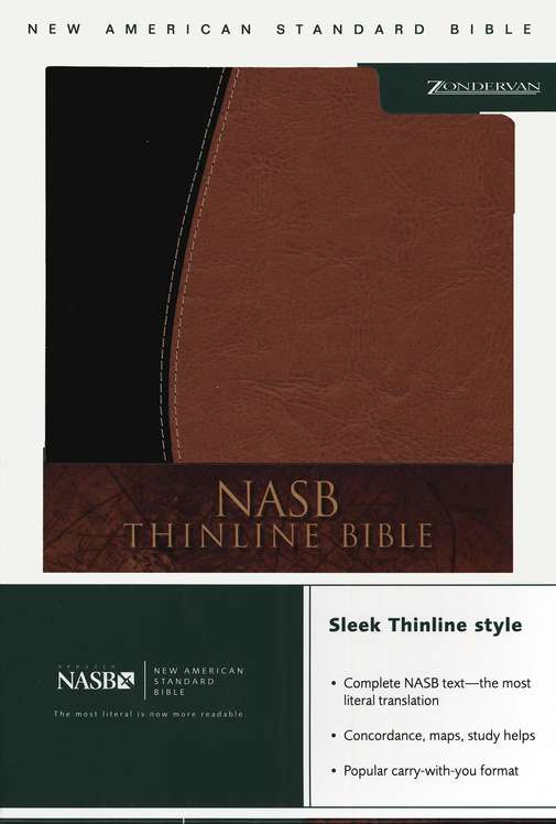 NASB Thinline Bible Italian DuoTone - Mahogany & Chocolate