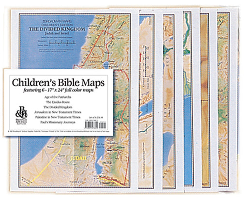 Children's Bible Maps - Set of 6