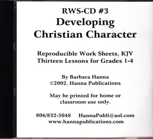 Developing Christian Character CD