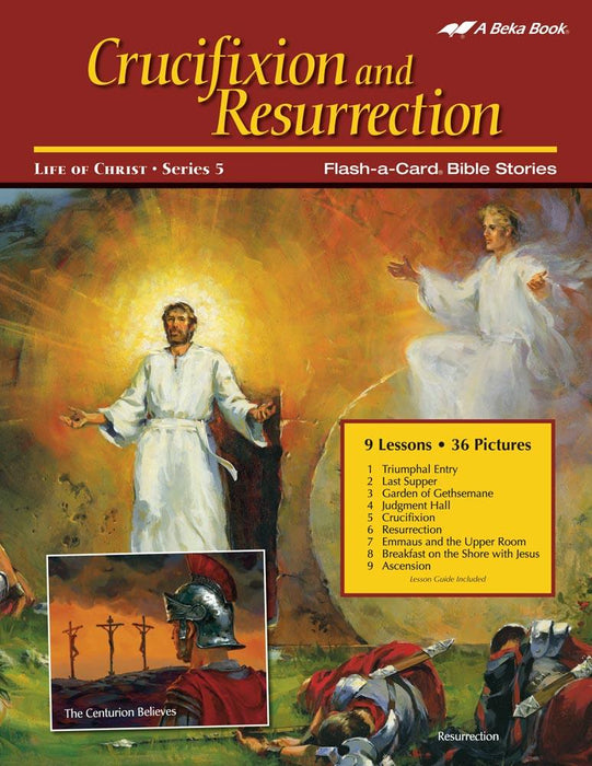 Crucifixion and Resurrection Abeka Flash-a-Card Bible Stories - Book Format