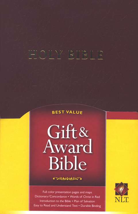 NLT Gift and Award Bible Burgundy