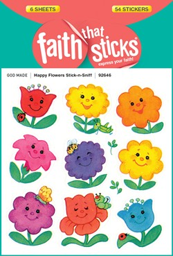 Happy Flowers Stick-n-Sniff Stickers