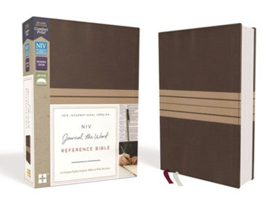NIV Journal the Word Reference Bible Brown/Tan Duo-Tone