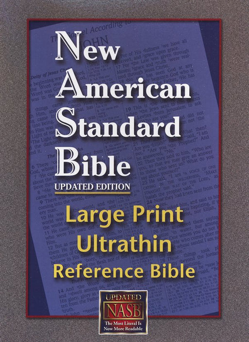 NAS Large Print Ultrathin Reference Bible Burgundy Bonded Leather