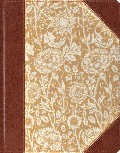 ESV Single Column Journaling Bible Hardback, Antique Floral