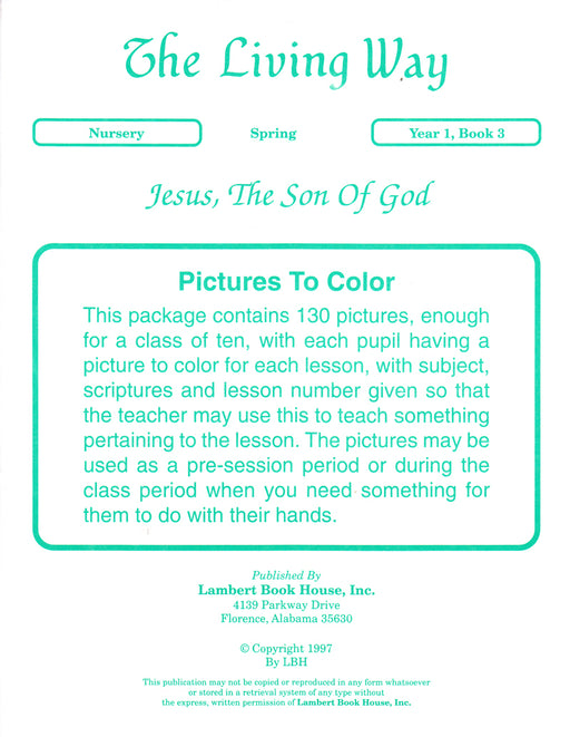 Nursery 1:3 PTC - Jesus - Son of God