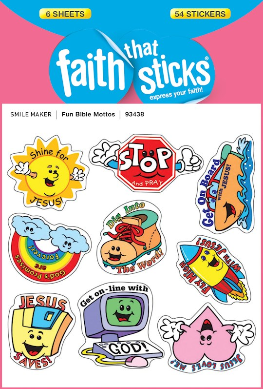 Fun Bible Mottos Stickers