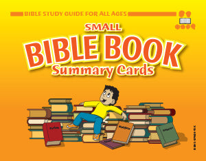 Bible Book Summary Cards, Small - Bible Study Guide for All Ages - 4.5 x 6