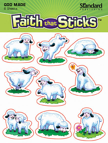 God Made Sheep Stickers