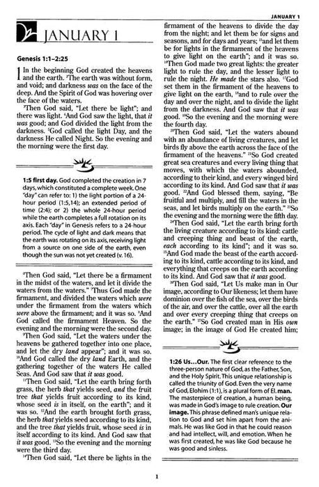 MacArthur Daily Bible - NKJV (inside pages)