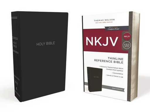 NKJV Thinline Reference Bible Black Leatherflex