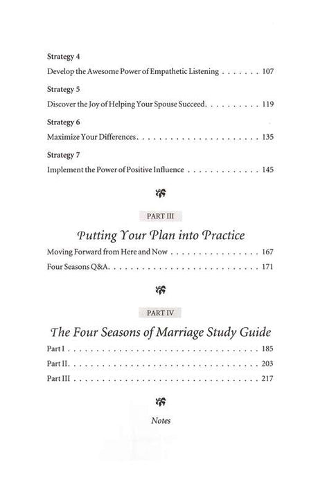 Four Seasons of Marriage
