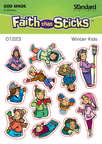 Winter Kids Stickers