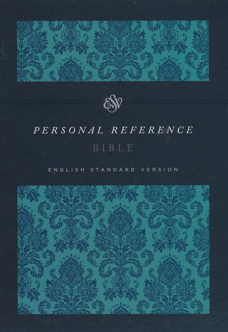 ESV Personal Size Reference Bible Cloth over Board, Damask