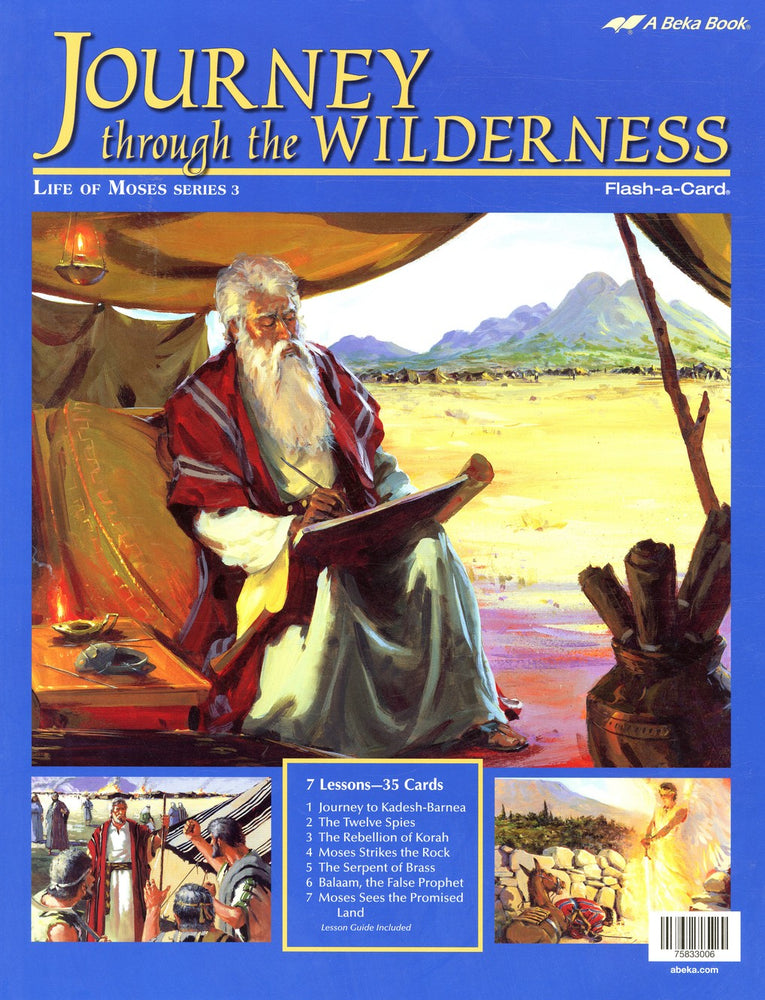 Journey through the Wilderness (Life of Moses Series 3) - Abeka Flash-A-Card
