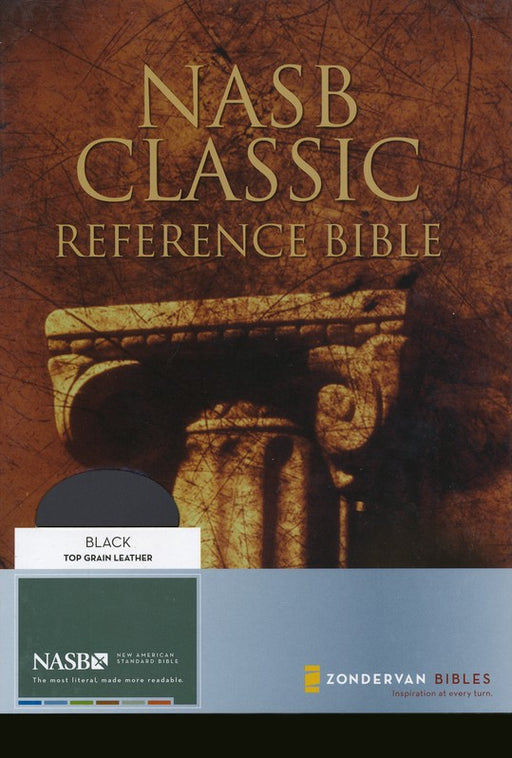 NAS Classic Reference Bible - Black Genuine Leather