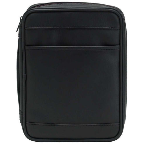 Bible Cover Executive Nubuck Black - Large