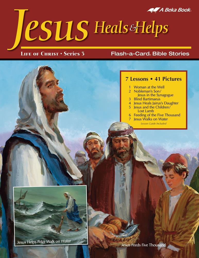 Jesus Heals and Helps Abeka Flash-A-Card Bible Stories - Book Format
