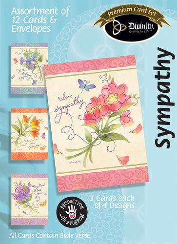 Boxed Cards - Bouquets & Swirls - Sympathy