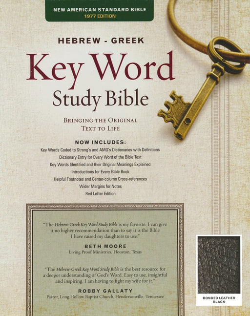 Hebrew-Greek NAS Key Word Study Bible - Black Bonded Leather