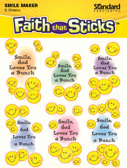 Smile - God Loves You a Bunch Stickers