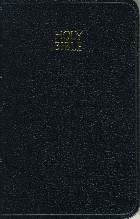 KJV Vest Pocket Edition With New Testament & Psalms - Black Leatherflex