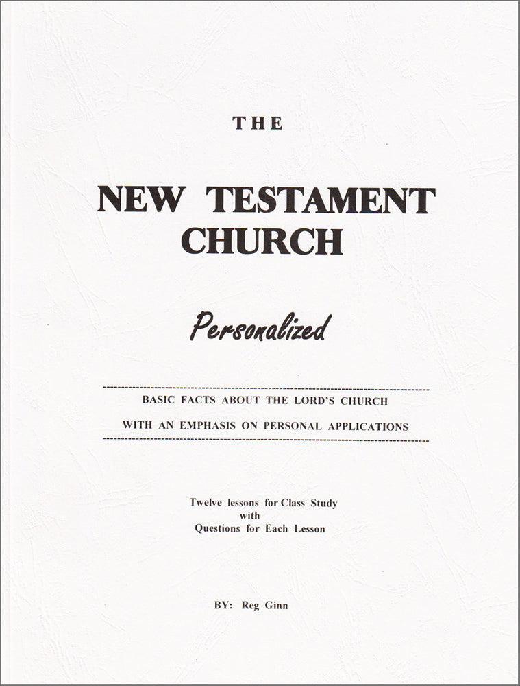 New Testament Church Personalized