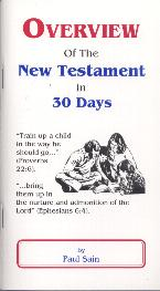 Overview of the New Testament in 30 Days - Sain