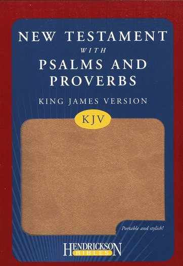 KJV New Testament Bible with Psalms and Proverbs Tan Flexisoft