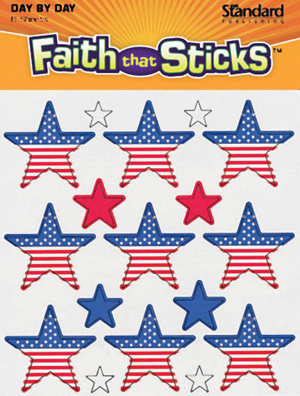 Red, White, and Blue Stars Stickers