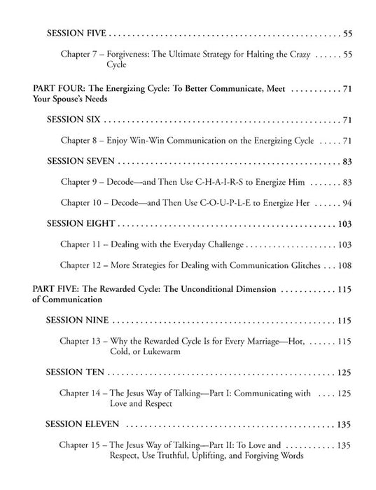 Language Of Love Respect Workbook Cracking The Communication Code