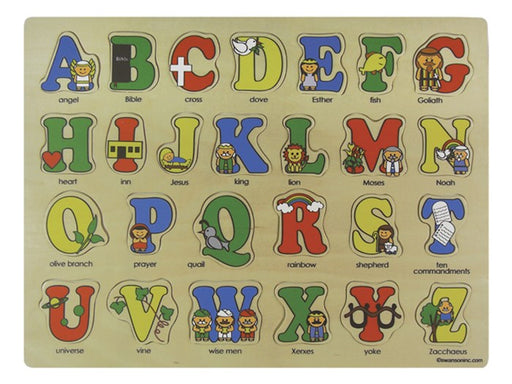 Wooden Puzzle Bible ABC's